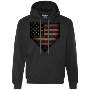 Barnwood Sports American Flag Plate Heavyweight Pullover Fleece Sweatshirt