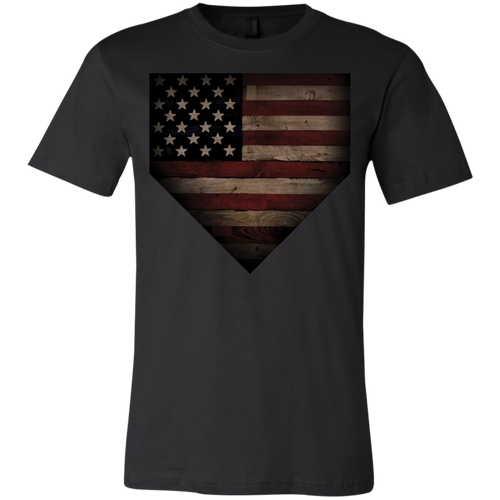Barnwood Sports American Flag Plate Youth Jersey Short Sleeve T-Shirt