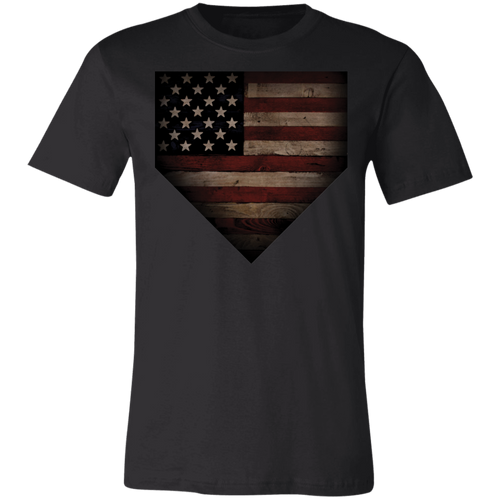 Barnwood Sports American Flag Plate Jersey Short-Sleeve T-Shirt