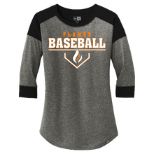 Load image into Gallery viewer, New Era Ladies Heritage 3/4 Sleeve Baseball Tee (Plate Logo)