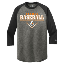 Load image into Gallery viewer, New Era Heritage 3/4 Sleeve Baseball Tee (Plate Logo)