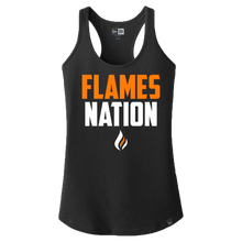 Load image into Gallery viewer, New Era Ladies Heritage Racerback Tank (Flames Nation Logo)