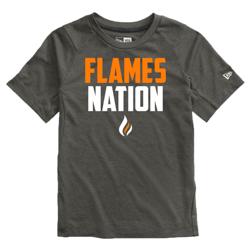 New Era Youth Series Performance Crew Tee (Flames Nation Logo)
