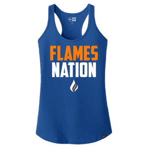 New Era Ladies Heritage Racerback Tank (Flames Nation Logo)
