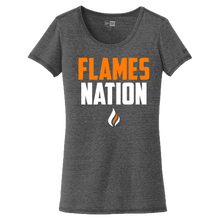 Load image into Gallery viewer, New Era Ladies Performance Scoop Tee (Flames Nation Logo)