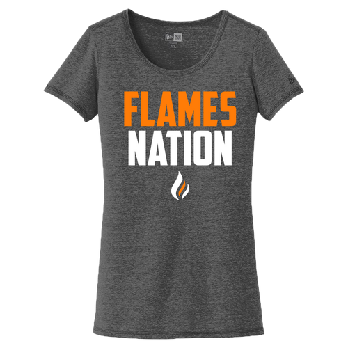 New Era Ladies Performance Scoop Tee (Flames Nation Logo)