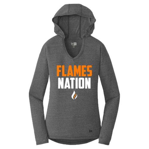 New Era Ladies Performance Hoodie Tee (Flames Nation Logo)