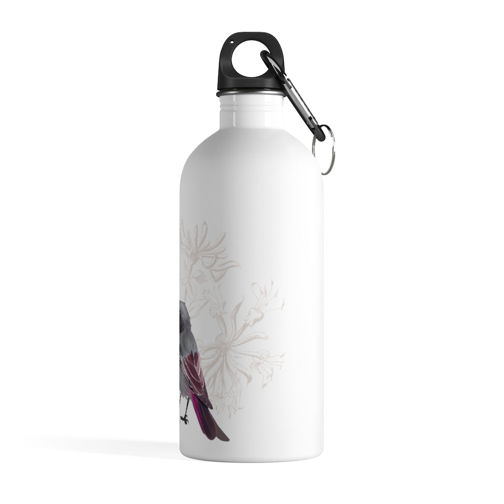 Junco Magenta Bird - Stainless Steel Water Bottle