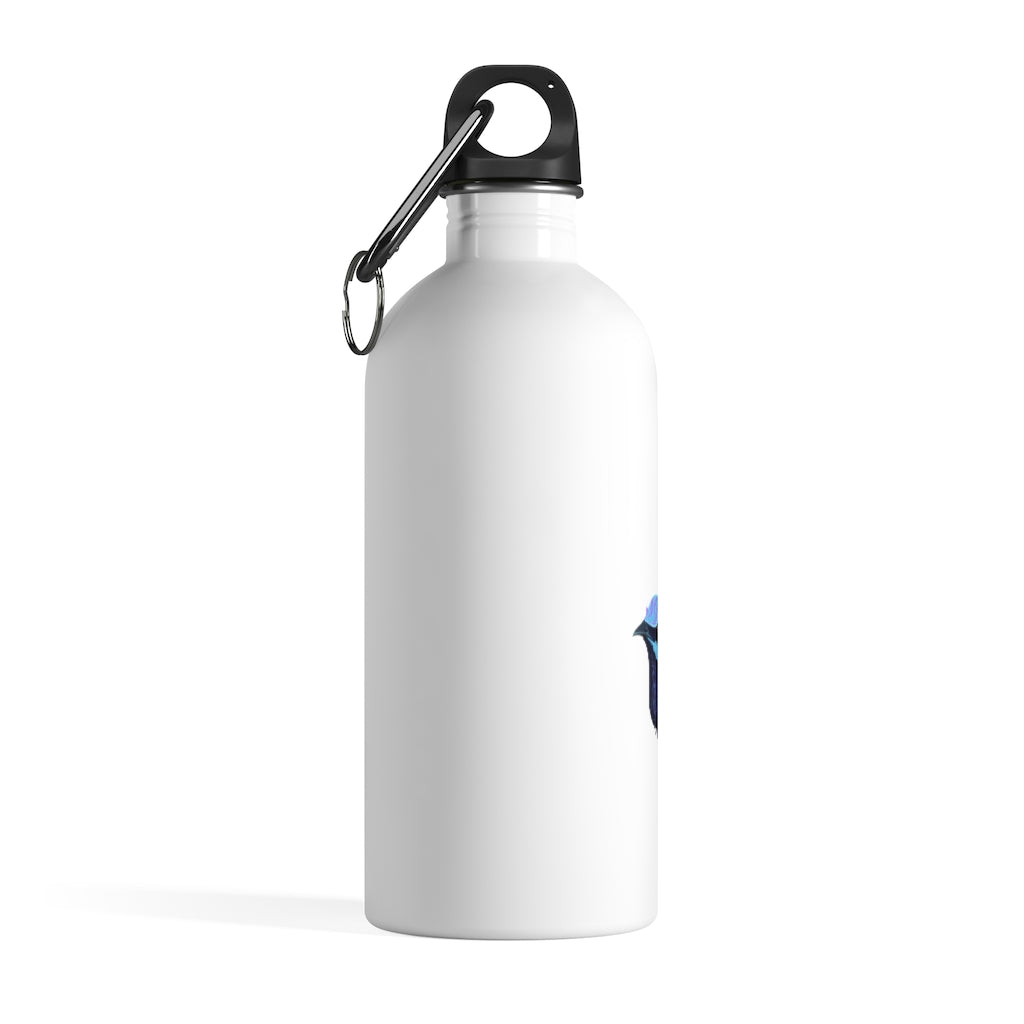 Forest Wren Blue Bird - Stainless Steel Water Bottle