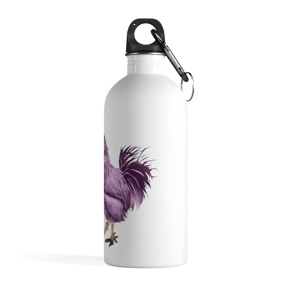 Rooster Strut (Pink) - Stainless Steel Water Bottle