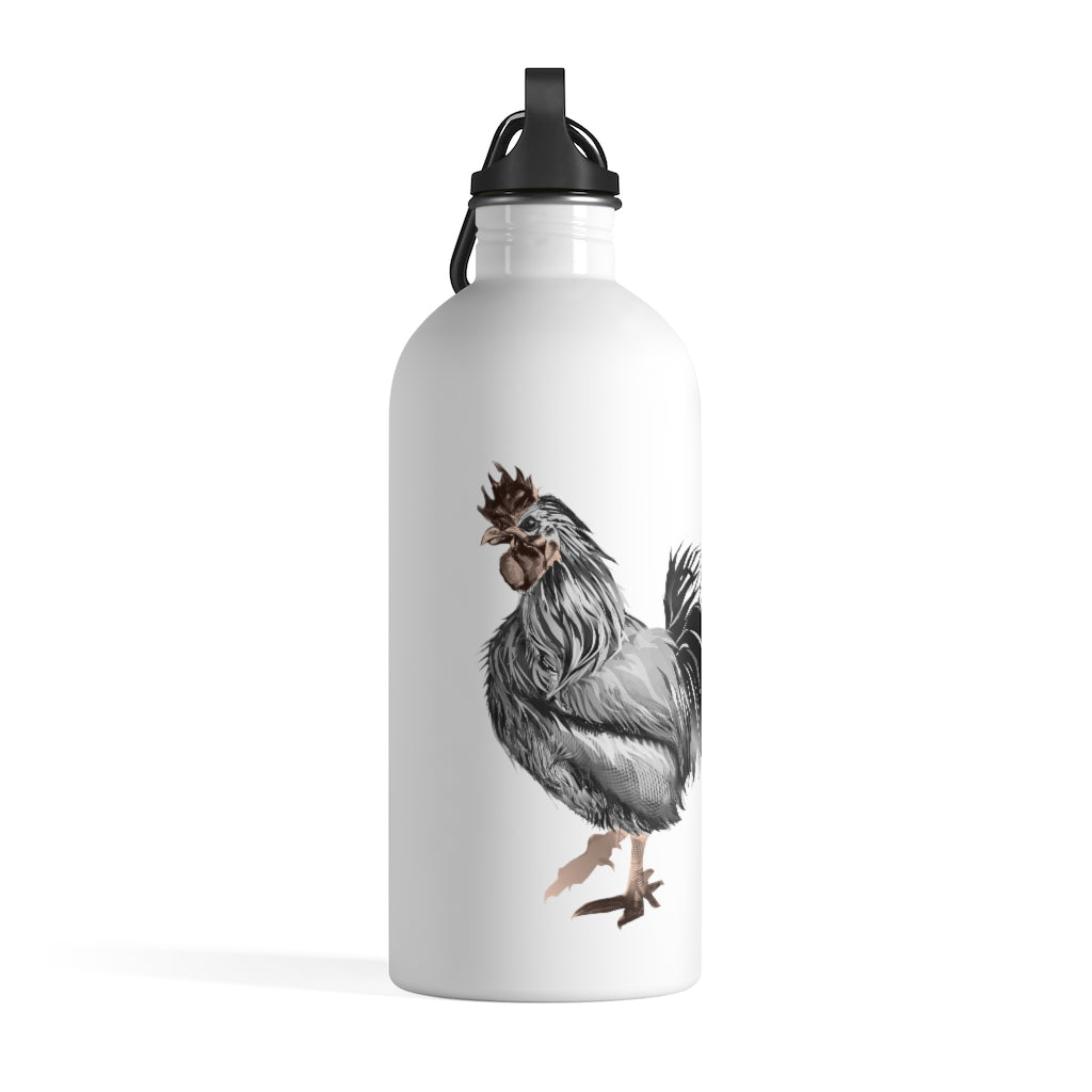 Rooster Strut (Gray) - Stainless Steel Water Bottle