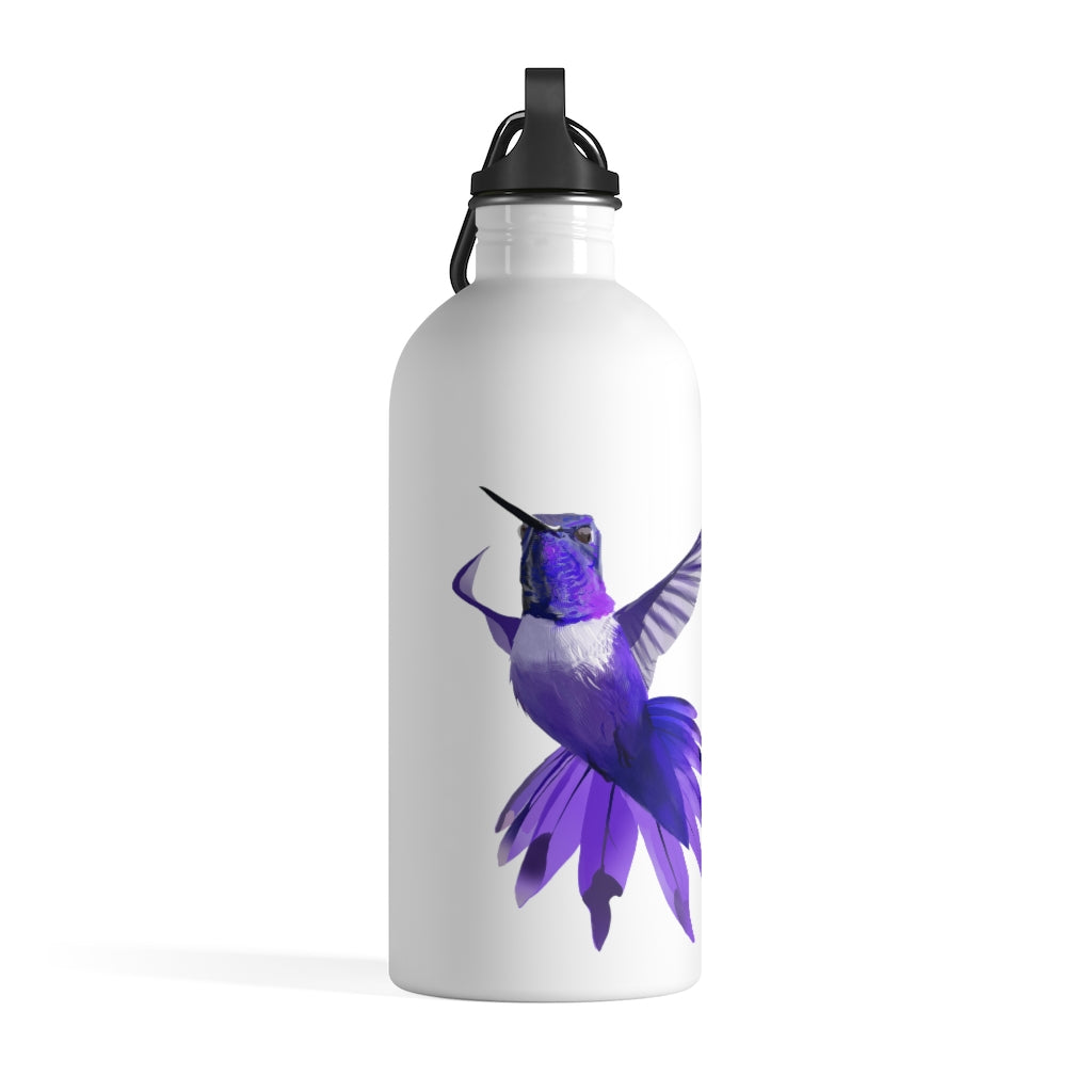 Hummingbird (Violet) - Stainless Steel Water Bottle