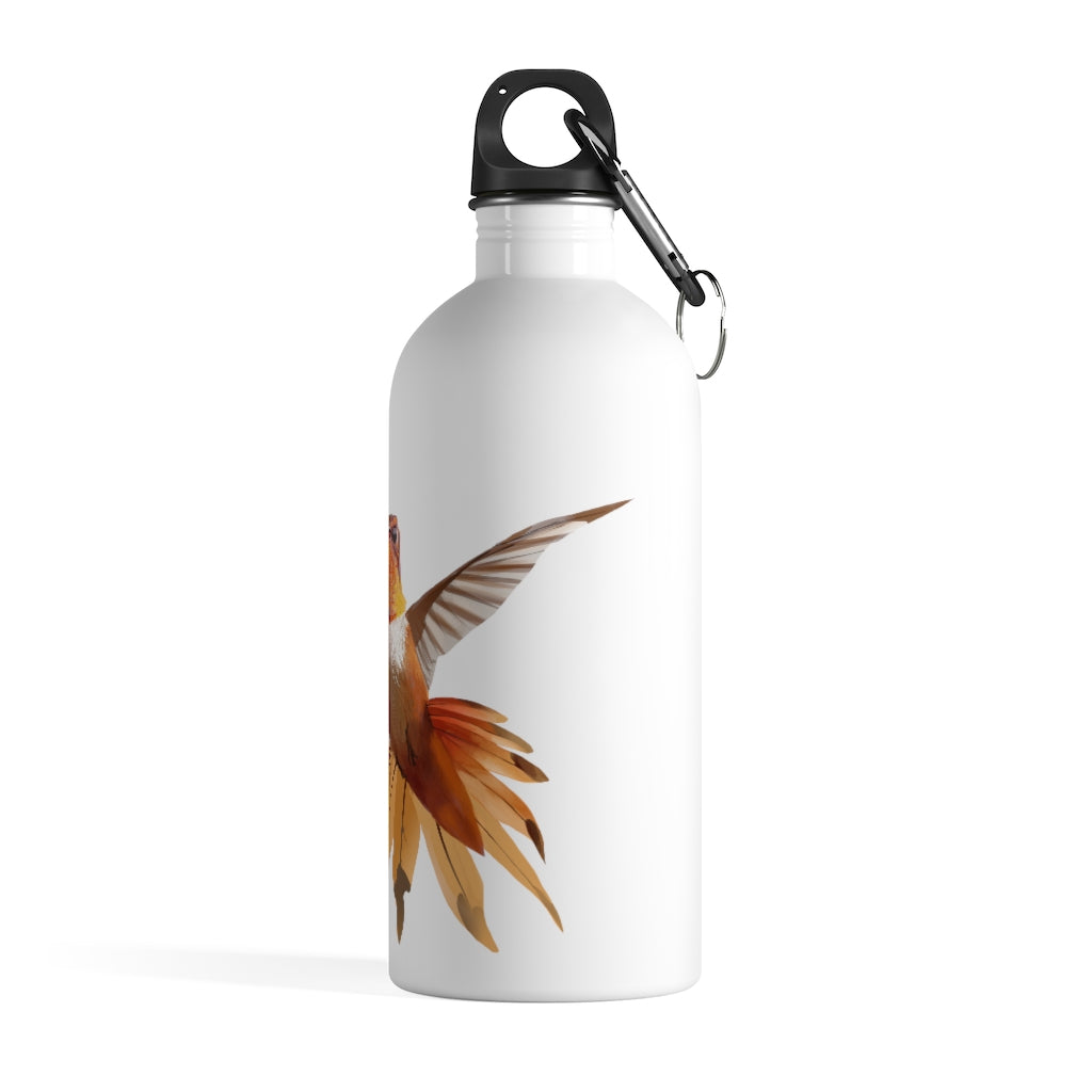 Hummingbird (Orange) - Stainless Steel Water Bottle