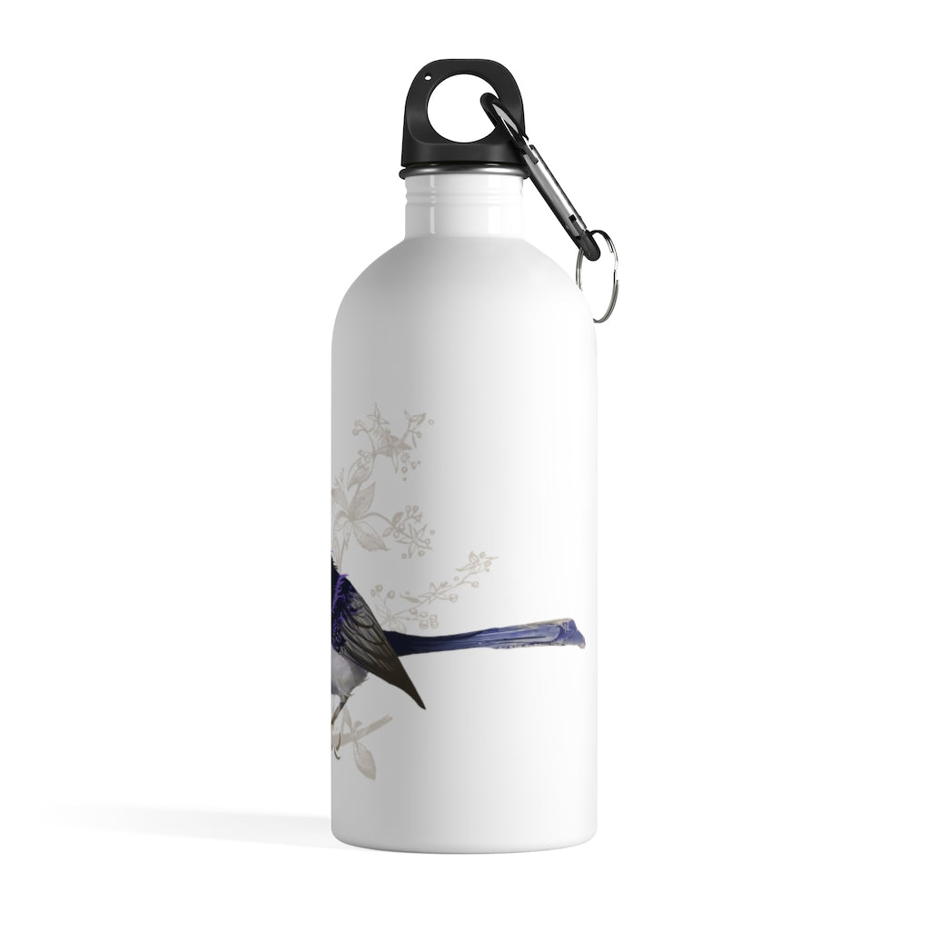 Forest Wren Magenta Bird - Stainless Steel Water Bottle