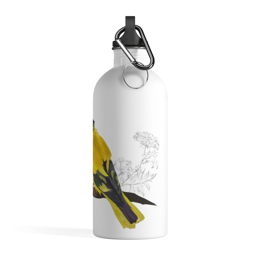 Black Hooded Oriole - Stainless Steel Water Bottle
