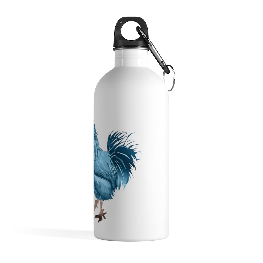 Rooster Strut (Blue) - Stainless Steel Water Bottle