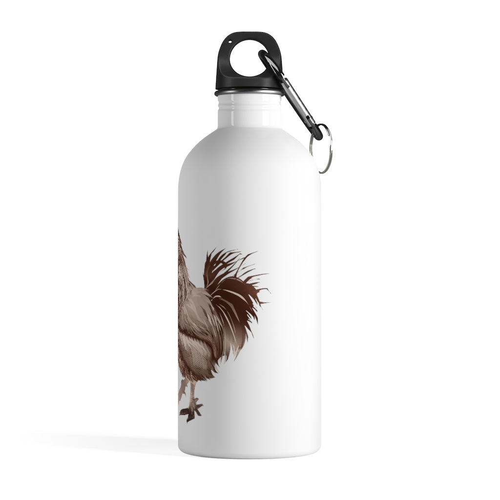Rooster Strut (Brown) - Stainless Steel Water Bottle