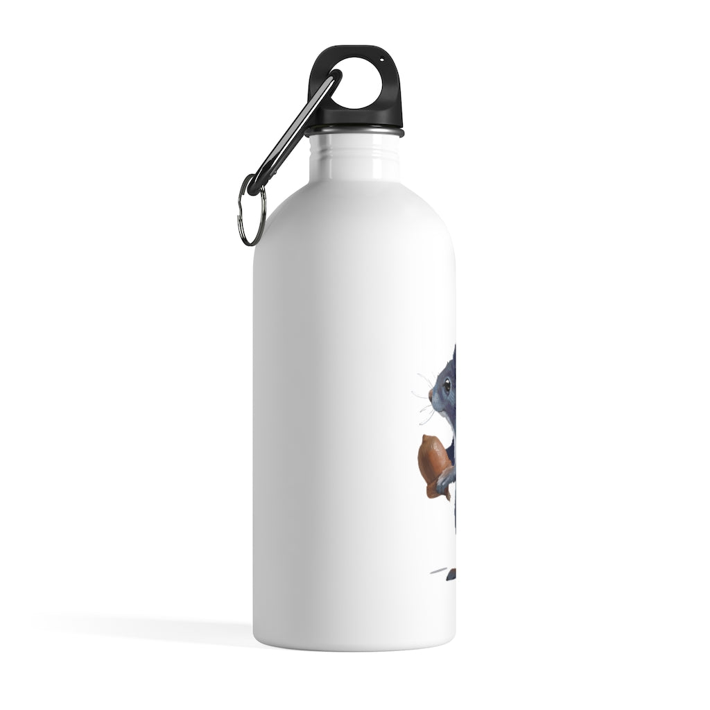 Squirrel (Ashley Gray) - Stainless Steel Water Bottle