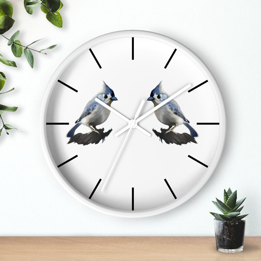 Bashful Tufted Titmouse - Wall clock