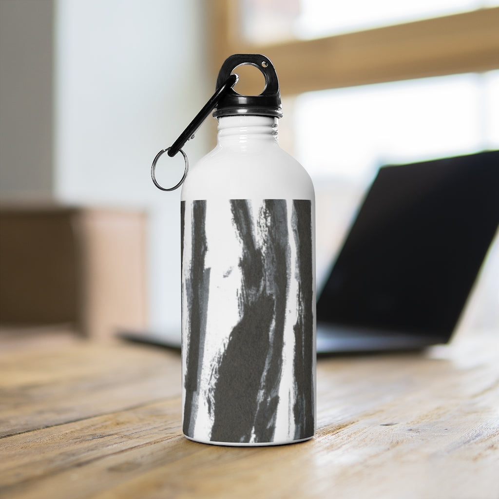 Zebra Stripes - Stainless Steel Water Bottle