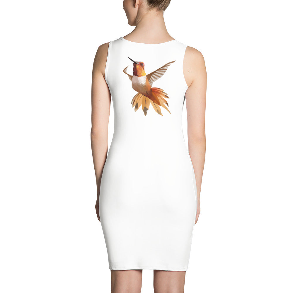 Hummingbird Orange - Sublimation Cut & Sew Dress