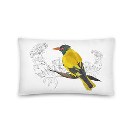 Black Hooded Oriole - Basic Pillow