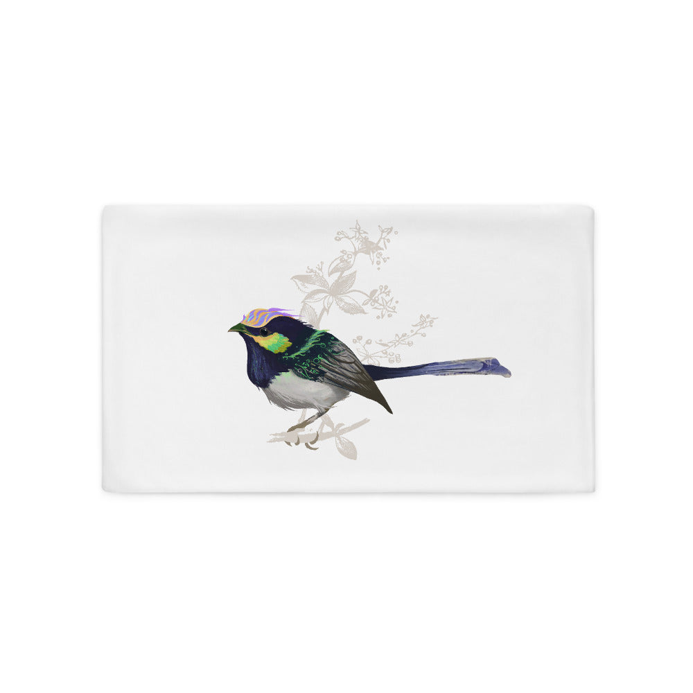 Forest Wren Green Bird - Pillow Case