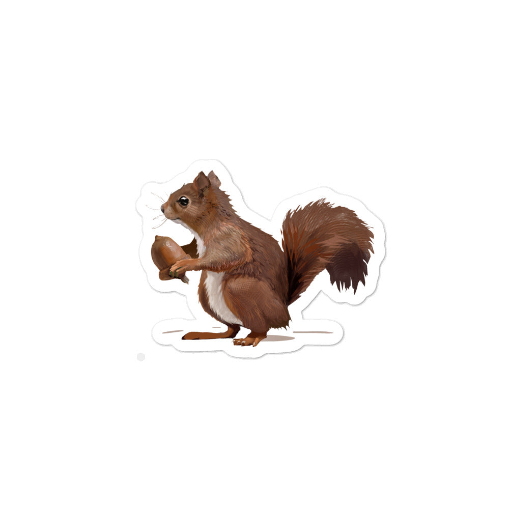 Squirrel (Brown) - Bubble-Free Stickers