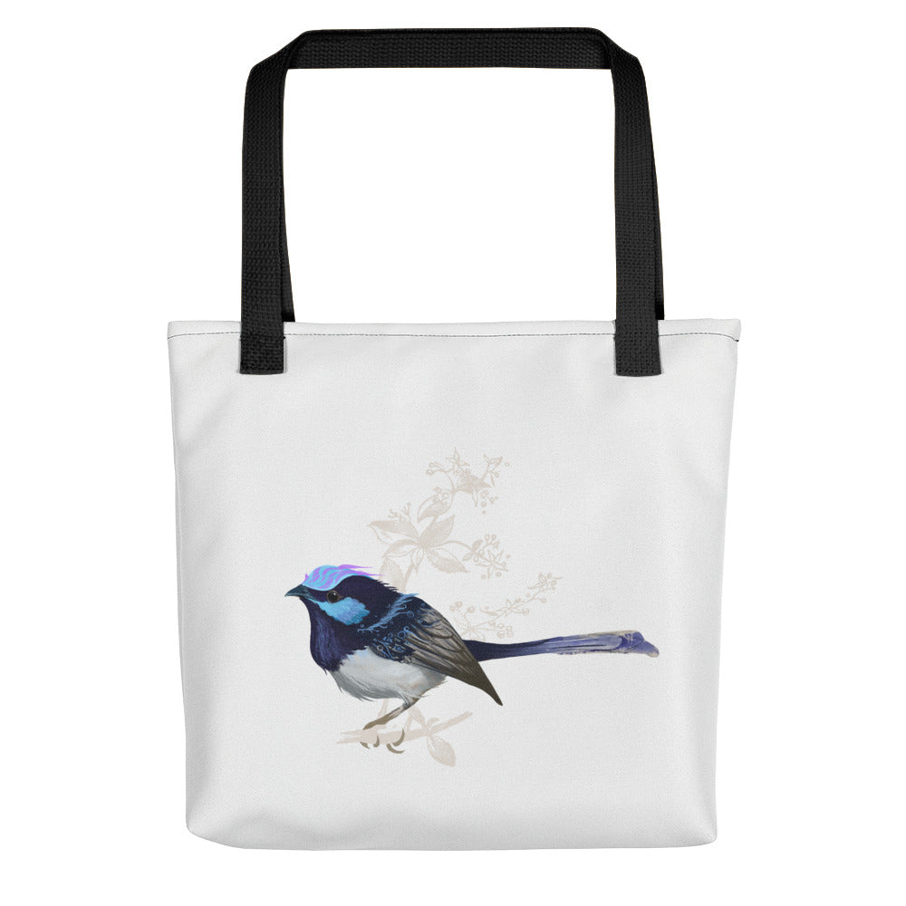 Forest Wren Blue Bird - Tote Bag