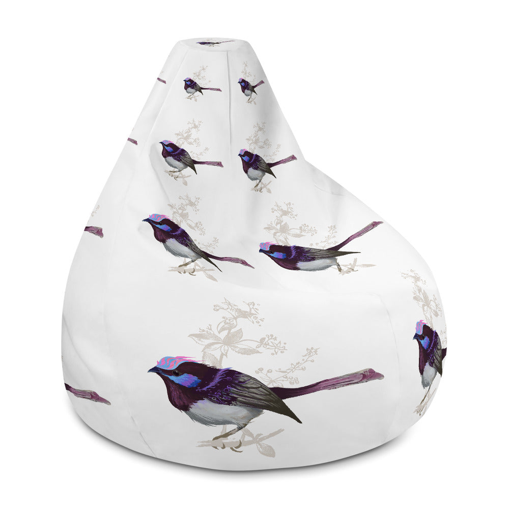 Forest Wren Pink Bird - Bean Bag Chair w/ filling