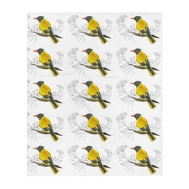 Black Hooded Oriole - Throw Blanket