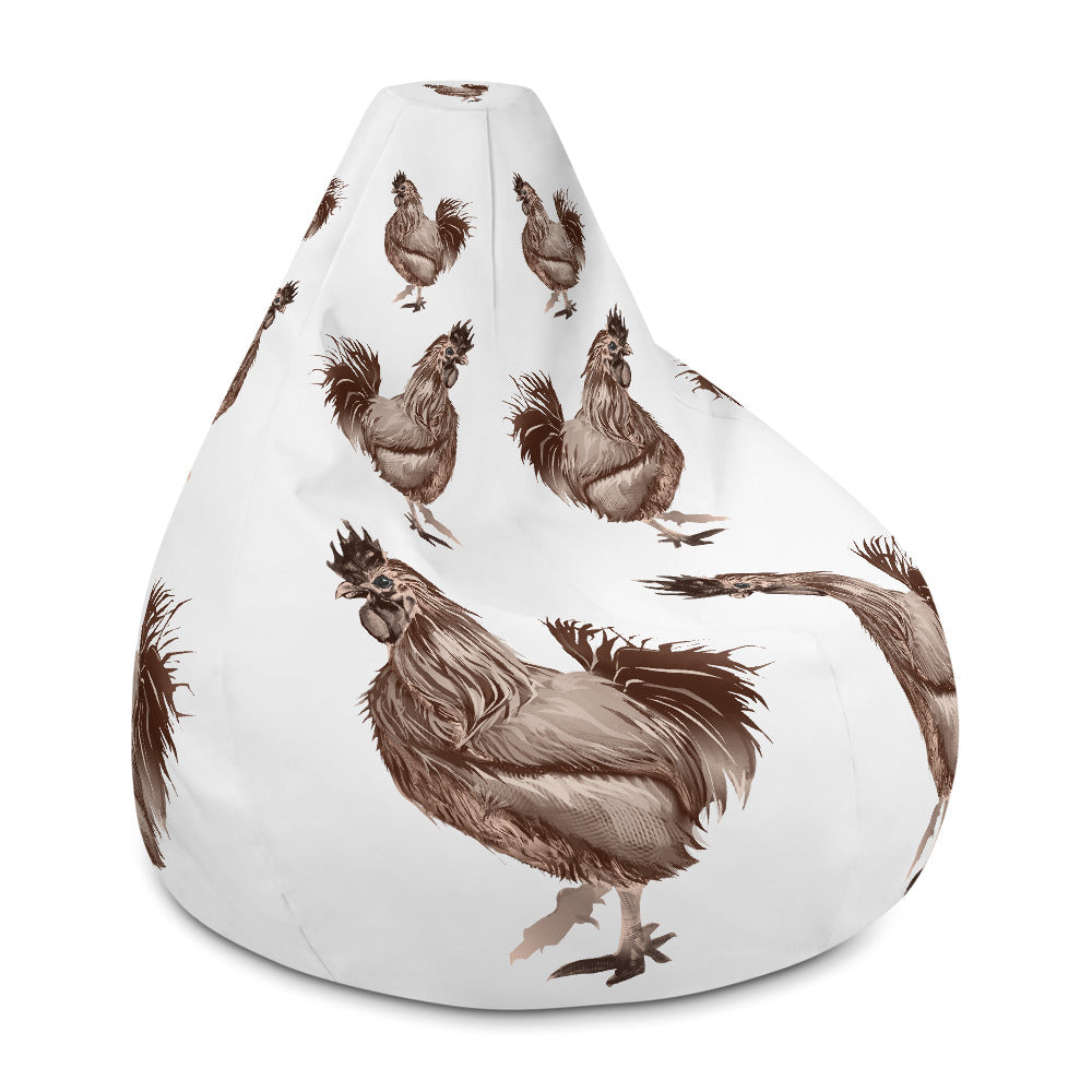 Rooster Strut (Brown) - Bean Bag Chair w/ filling
