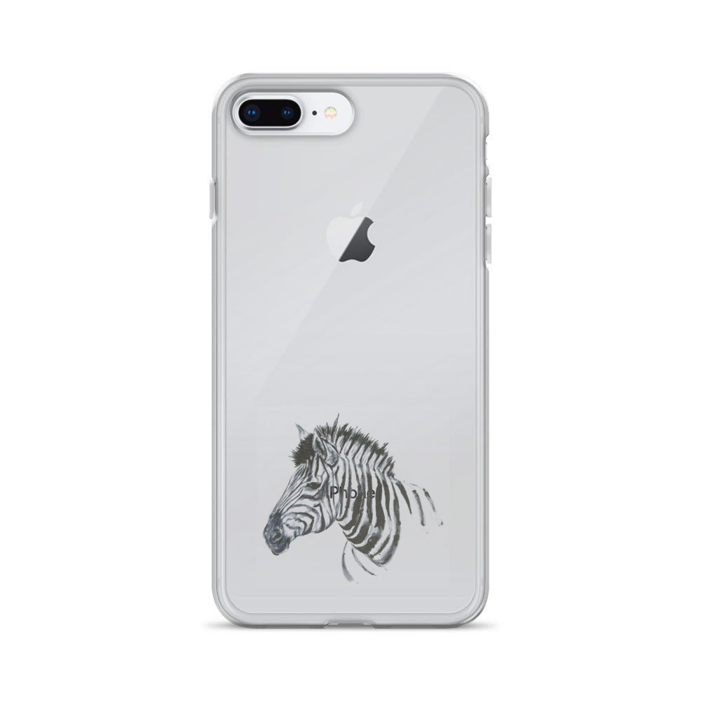 Zebra Ink Brush Painting - iPhone Case