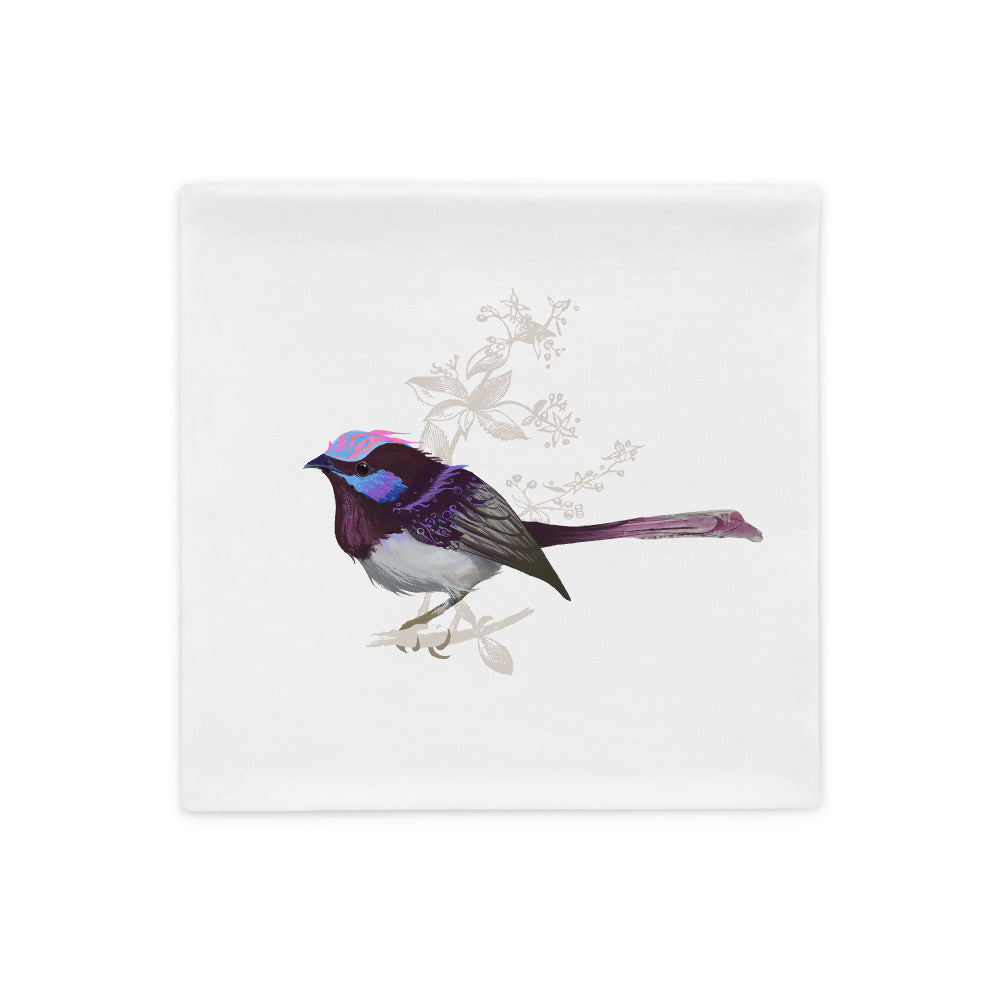 Forest Wren Pink Bird - Pillow Case