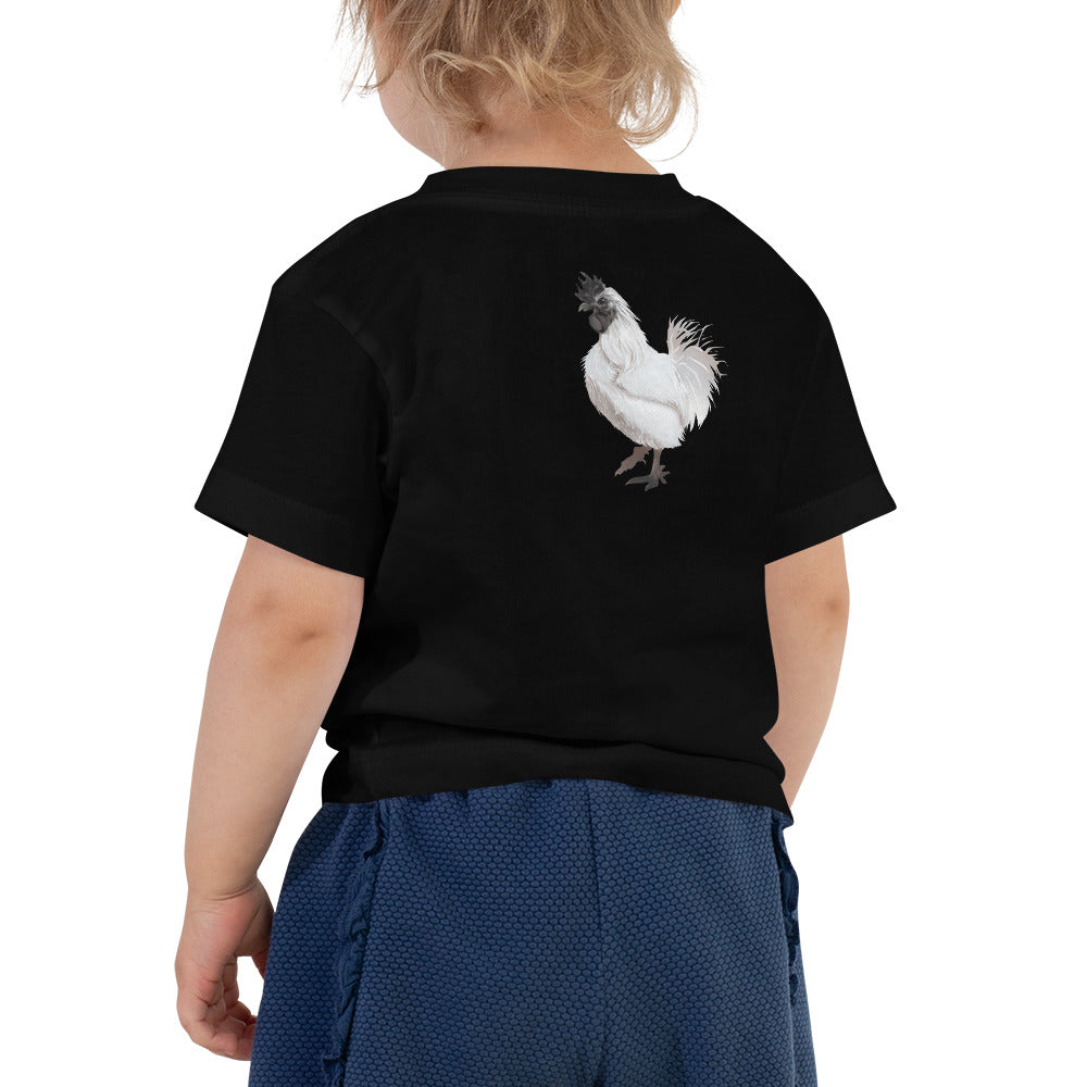 Rooster Strut (White) - Toddler Short Sleeve Tee