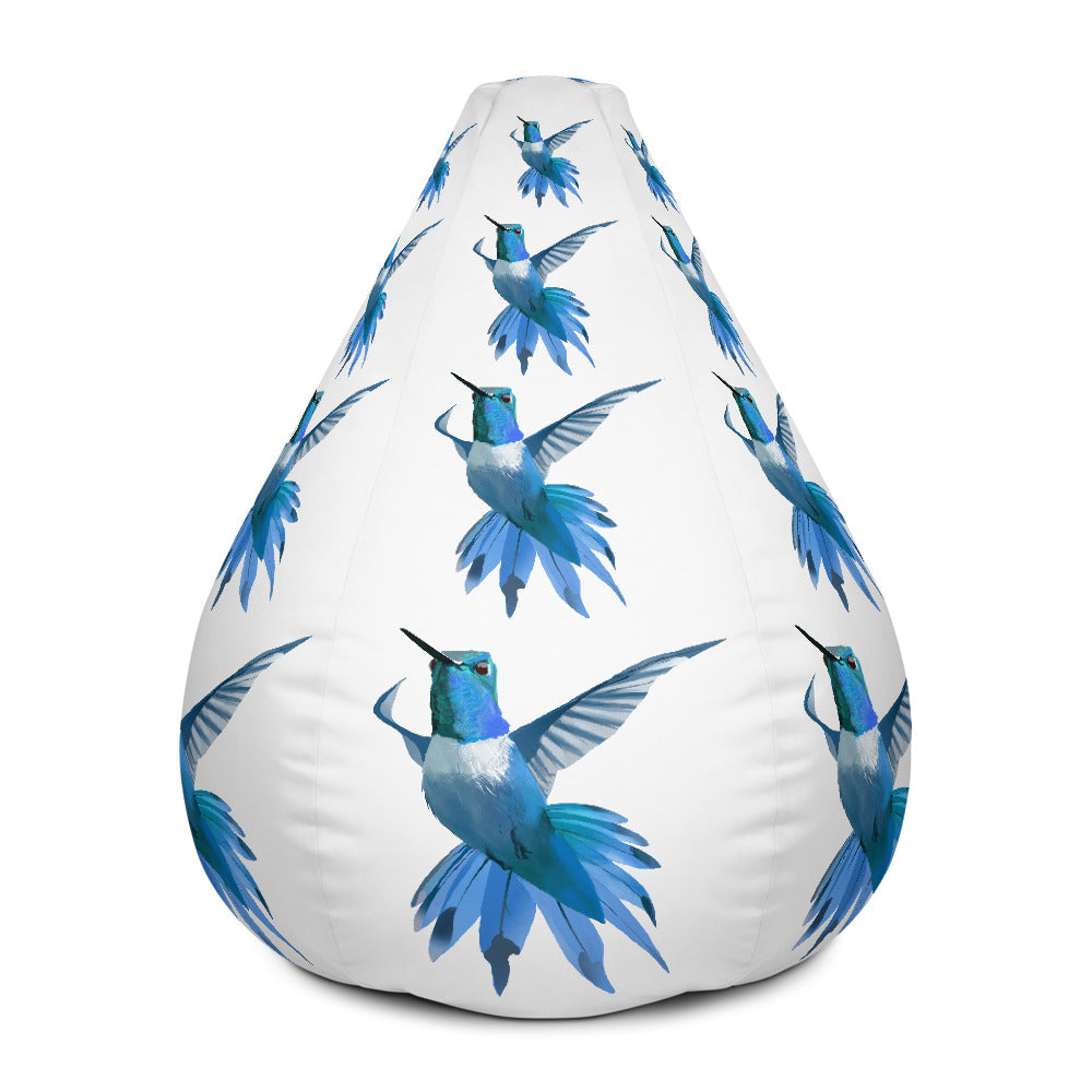 Hummingbird Blue - Bean Bag Chair w/ filling