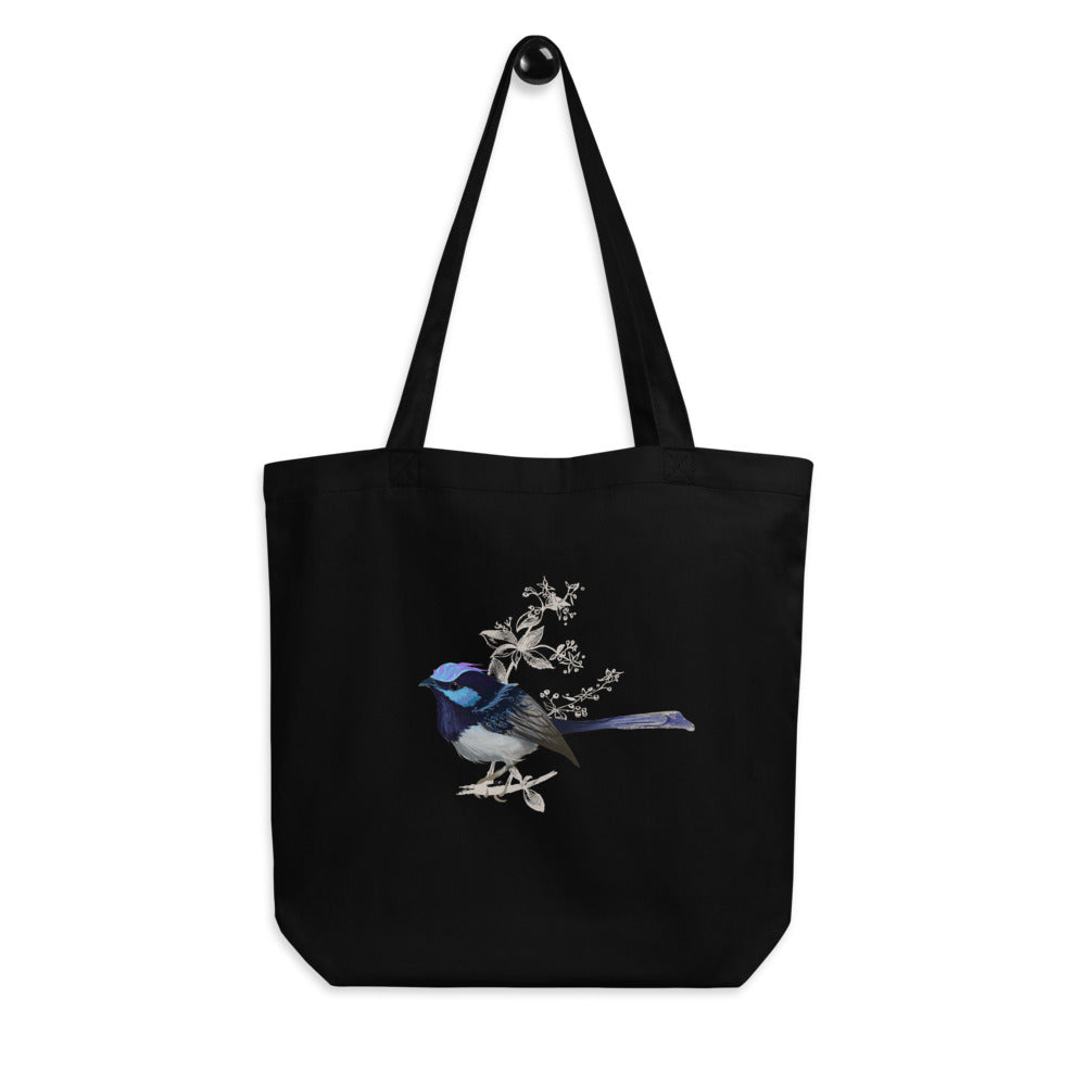 Forest Wren Blue Bird - Eco Tote Bag
