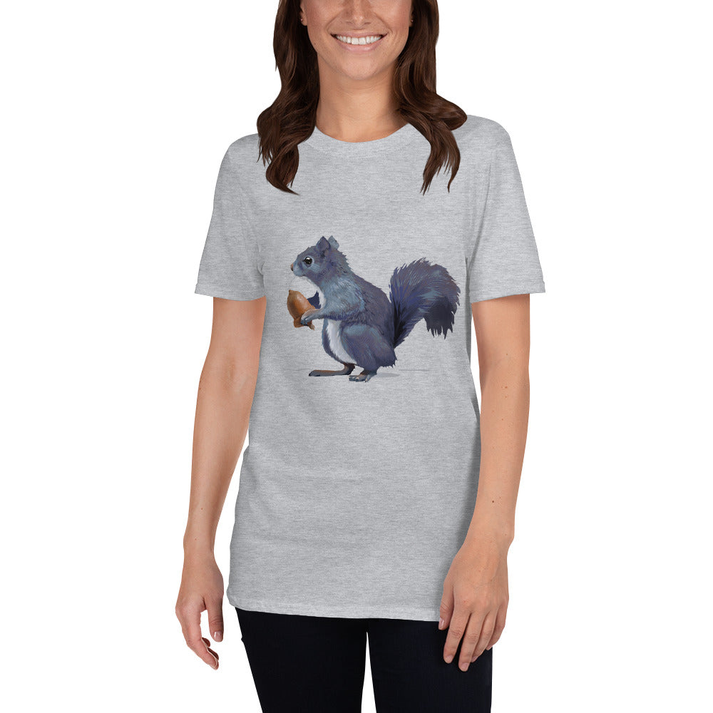 Squirrel (Gray) - Short-Sleeve Unisex T-Shirt