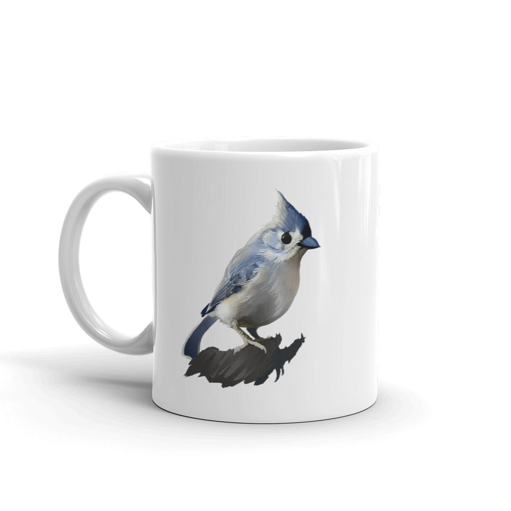 Bashful Tufted Titmouse Mug