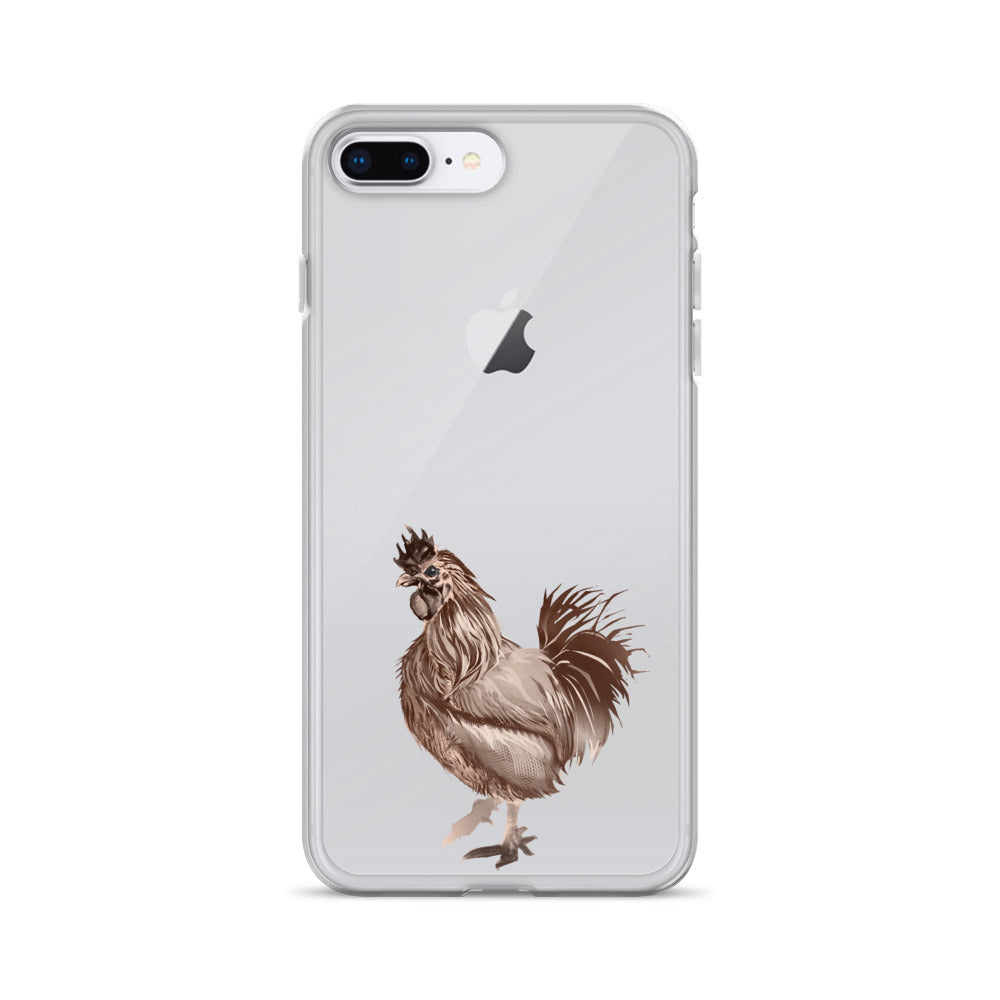 Rooster Strut (Brown) - iPhone Case