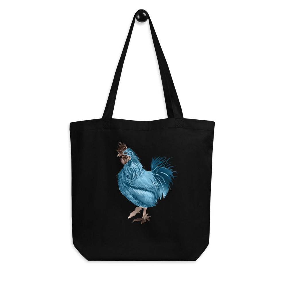 Rooster Strut (Blue) - Eco Tote Bag