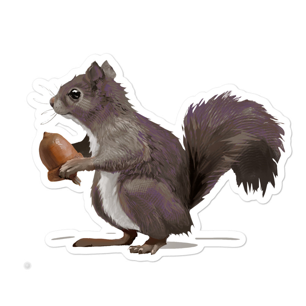 Squirrel (Mousy Brown) - Bubble-Free Stickers