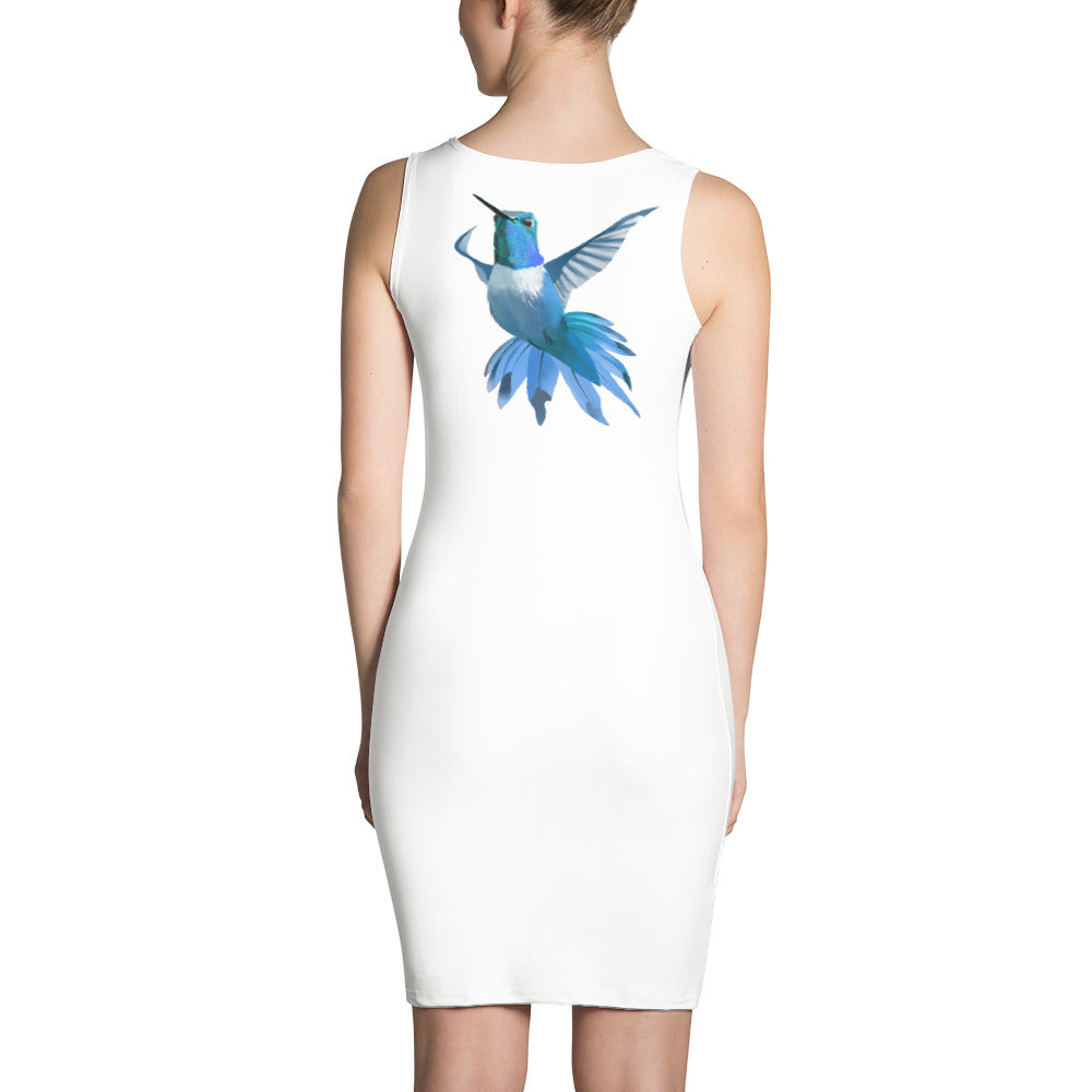 Hummingbird Blue - Sublimation Cut & Sew Dress