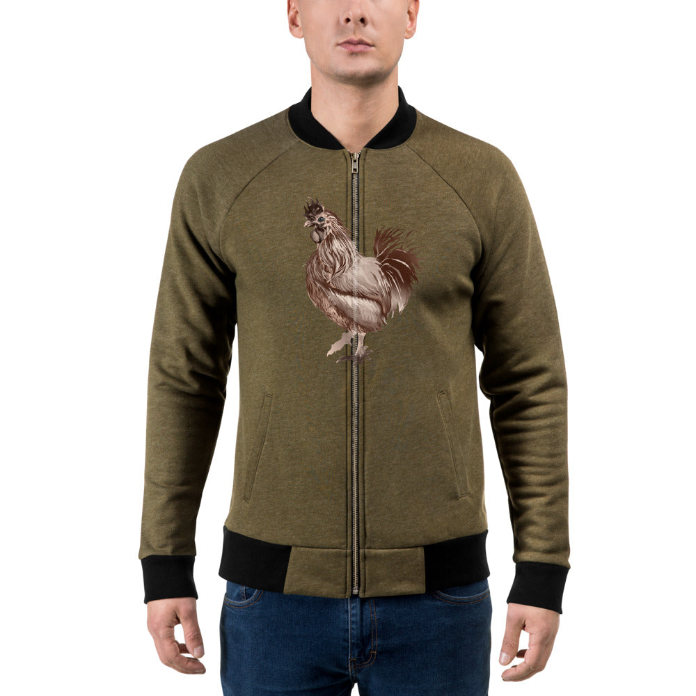 Rooster Strut (Brown) - Bomber Jacket