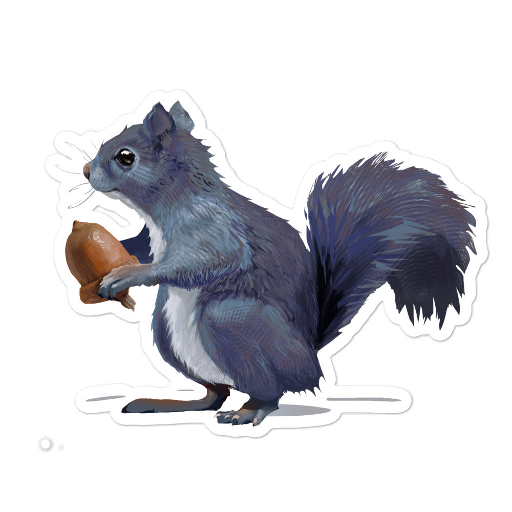 Squirrel (Gray) - Bubble-Free Stickers