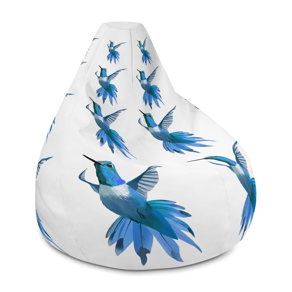 Hummingbird Blue - Bean Bag Chair Cover