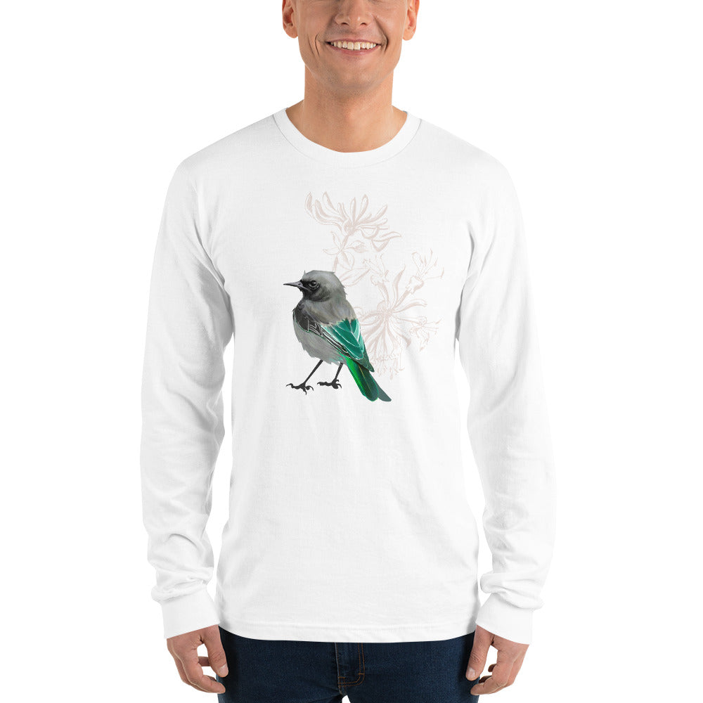 Junco Green Bird- Long sleeve t-shirt
