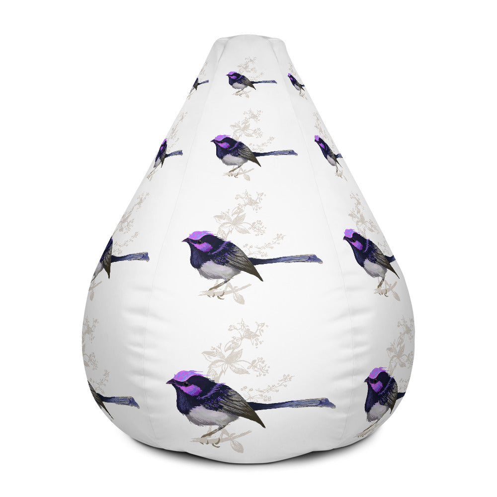 Forest Wren Magenta Bird - Bean Bag Chair Cover