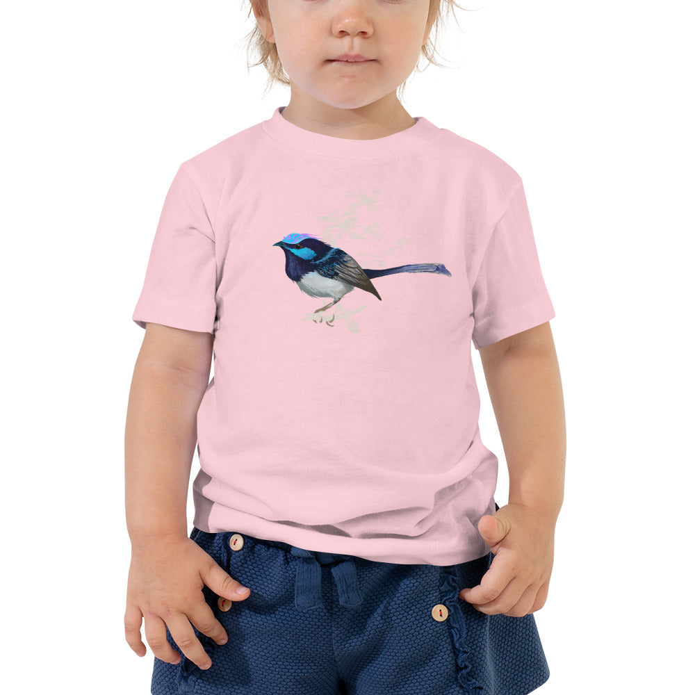 Forest Wren Blue Bird - Toddler Short Sleeve Tee