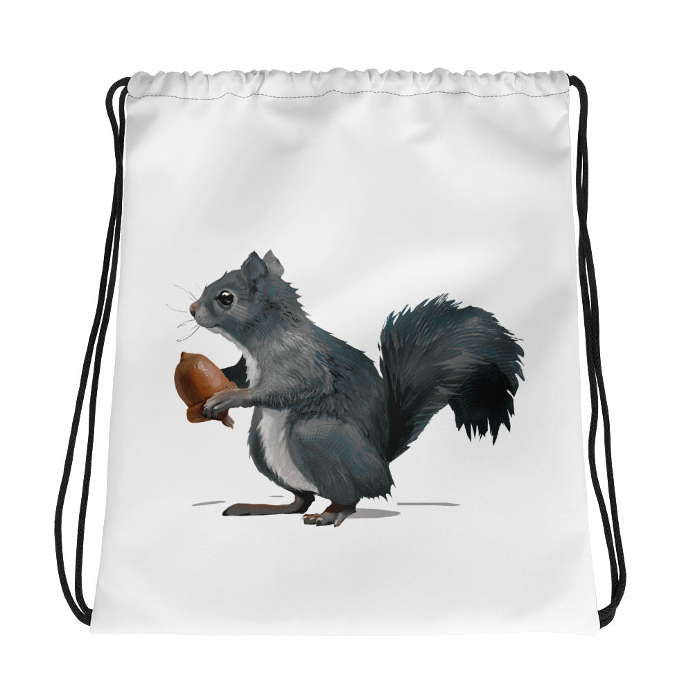 Squirrel (Ashley Gray) - Drawstring Bag
